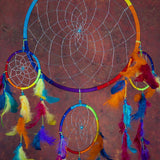 Multi-Colored Dreamcatcher With Feathers