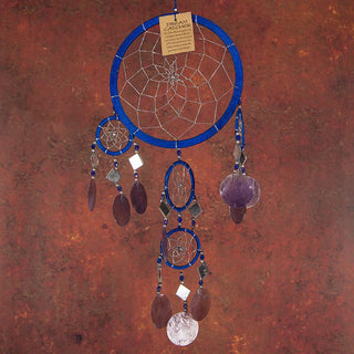 Royal-Blue Dreamcatcher With Shells