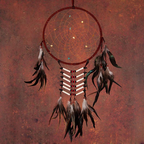 White Dreamcatcher With Feathers