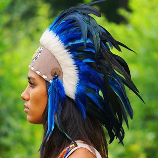 Royal Blue Feather Headdress