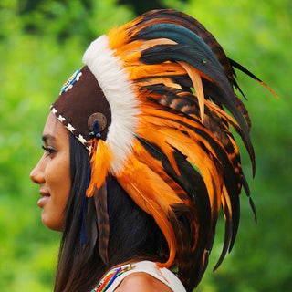 Orange Feather Headdress