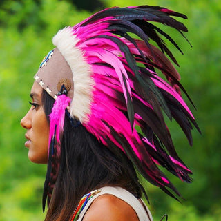 Pink Feather Headdress