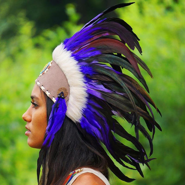Purple Feather Headdress by Novum Crafts