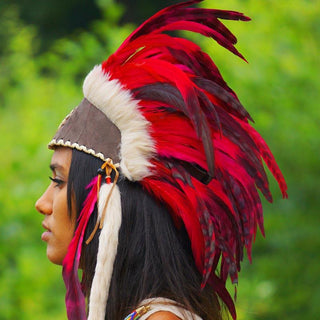 Red Feather Headdress