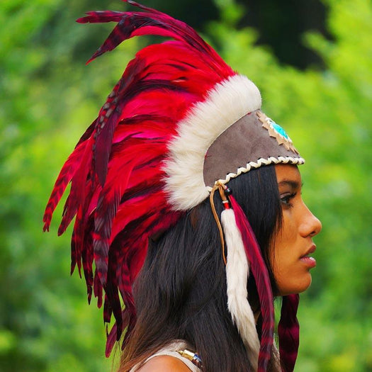 Red Feather Headdress by Novum Crafts