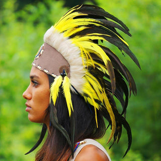 Yellow Feather Headdress