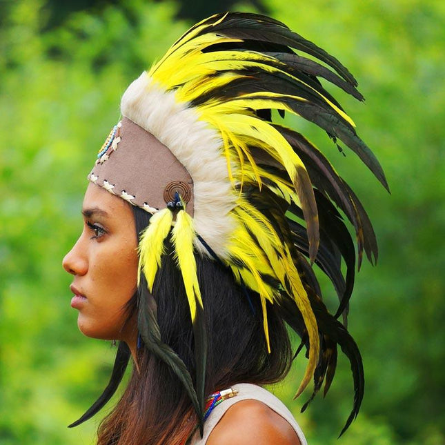 Yellow Feather Headdress by Novum Crafts
