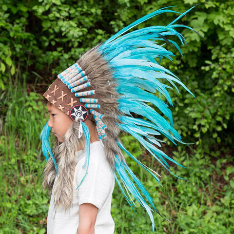 Kids Headdress - Aqua