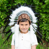 Kids Headdress - Black & White