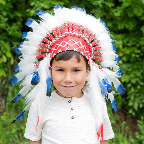 Kids Headdress - Blue Tips