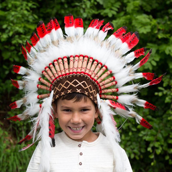 Kids Headdress - Mysterious Red