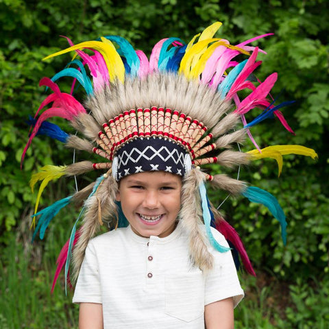 Kids Headdress - Rainbow