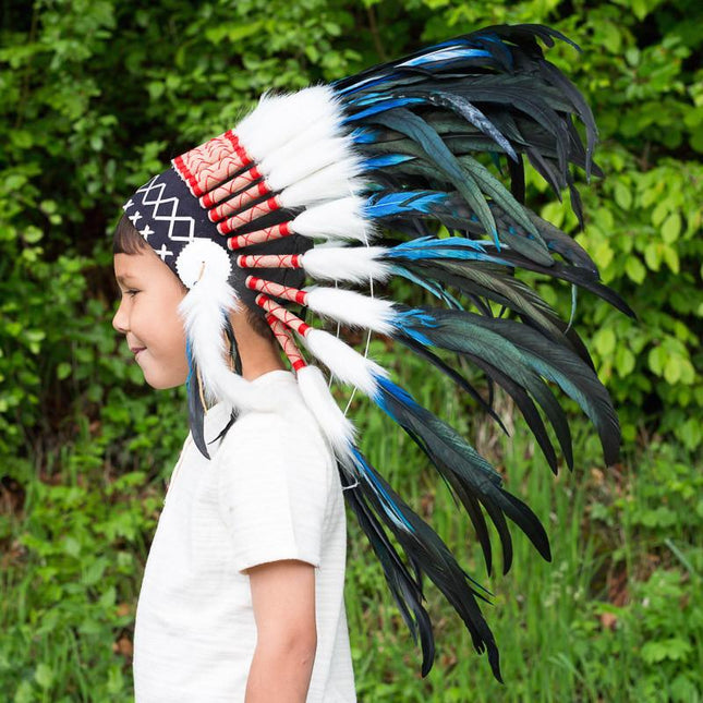 Kids Headdress - Royal Blue