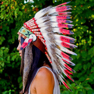 Red Tips Chief Headdress - 65cm