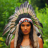 White-shaded Black Indian Headdress by Novum Crafts