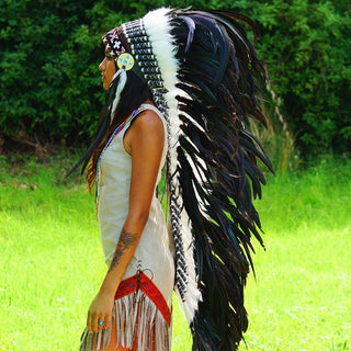 Black War Bonnet - 130cm