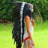Black-dotted white War Bonnet by Novum Crafts