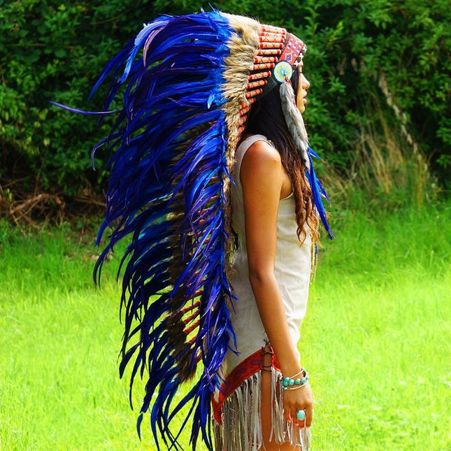 Royal Blue War Bonnet - 130cm