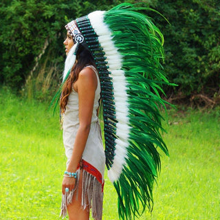 Green War Bonnet - 130cm