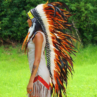 Orange War Bonnet - 130cm