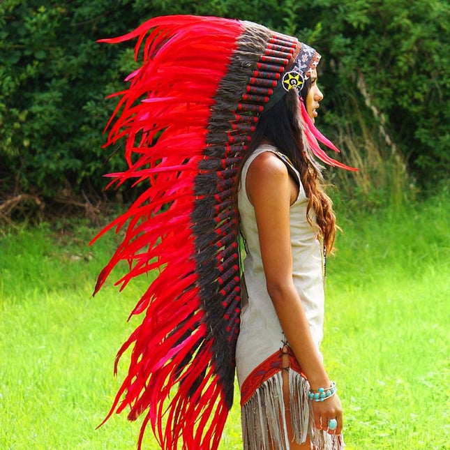 Red War Bonnet - 130cm