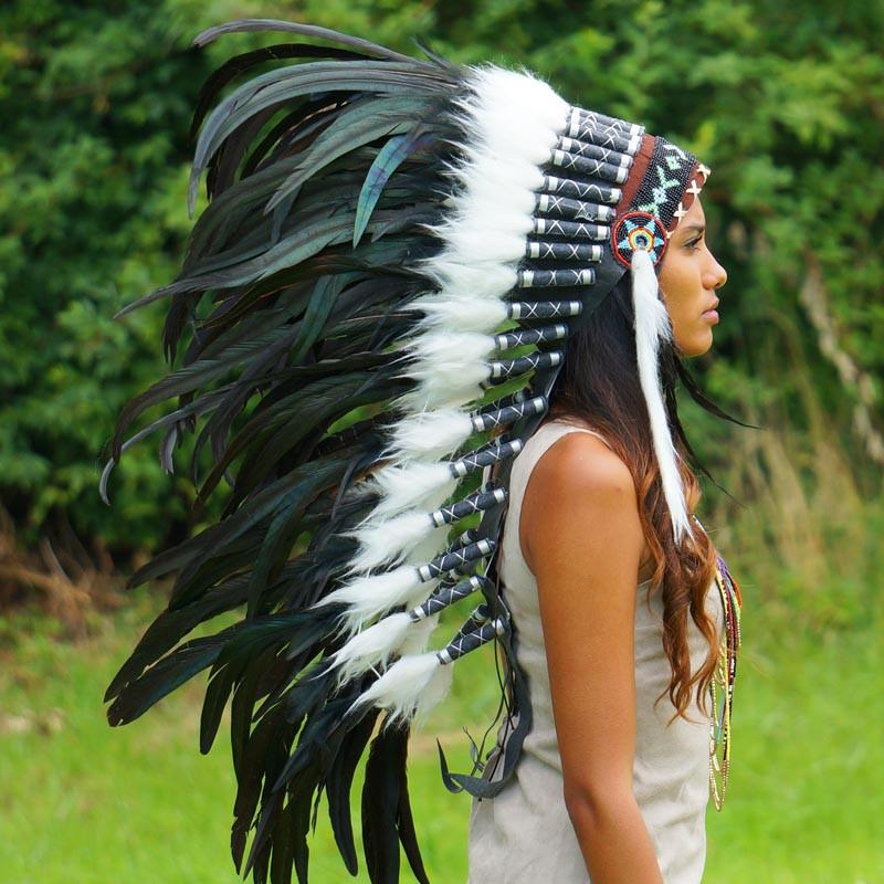 Black Indian Headdress - 95cm