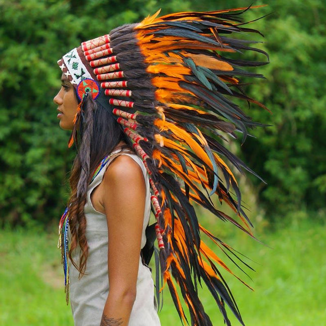 Orange Indian Headdress