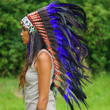 Purple Indian Headdress - 95cm
