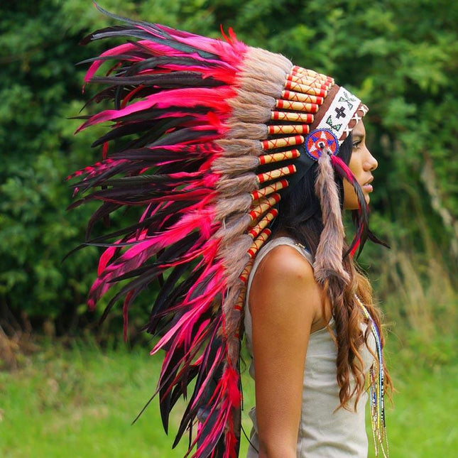 Red Indian Headdress - 95cm
