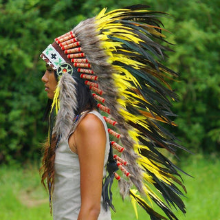 Yellow Indian Headdress - 95cm