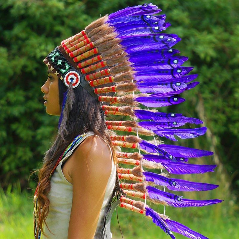 Purple Indian Headdress - 90cm