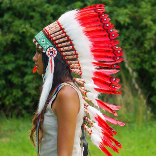 Red Indian Headdress - 90cm