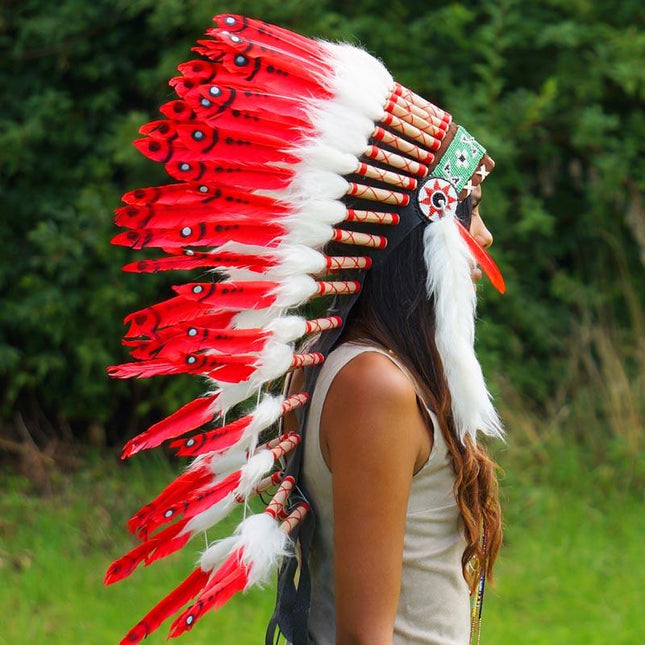 Red Indian Headdress by Novum Crafts