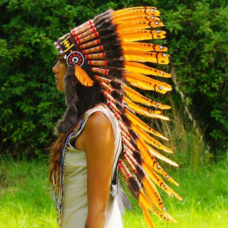 Orange Indian headdress by Novum Crafts