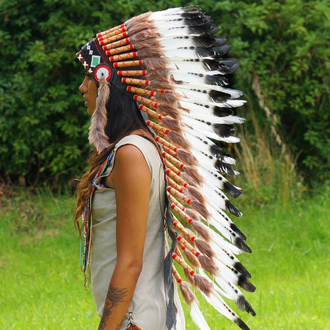 Dark Orange Chief Headdress - 65cm