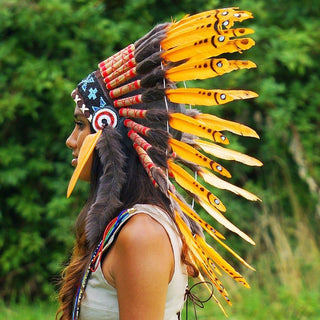 Orange Chief Headdress - 65cm