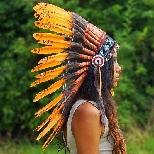 Orange chief headdress - Indian Headdress