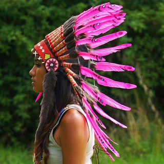 Pink Chief Headdress - 65cm