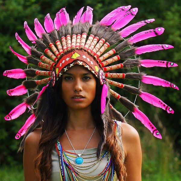 Sexy Pink Chief Headdress