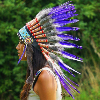 Purple Chief Headdress - 65cm