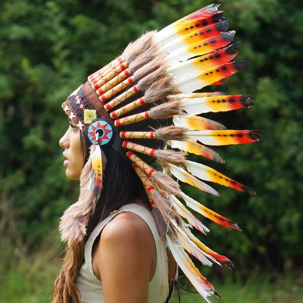 Rasta Style Chief Headdress 65cm Indian Headdress