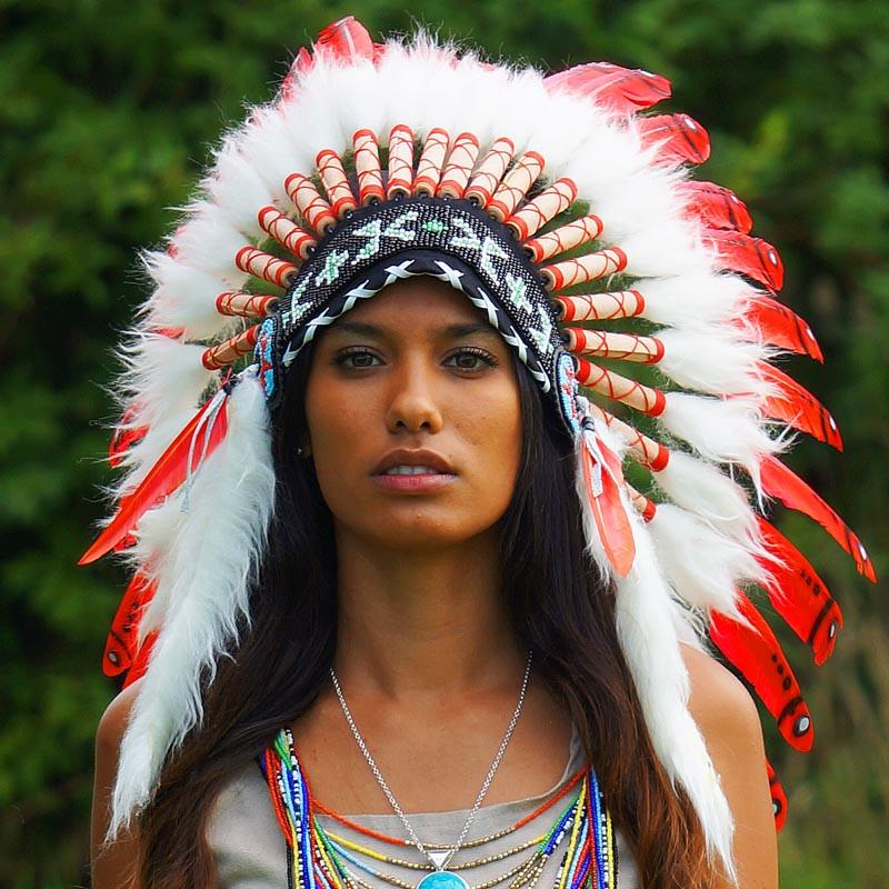Red Indian Chief Headdress