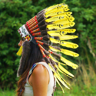 Yellow Chief Headdress - 65cm