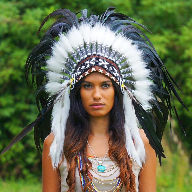 Black Native American Headdress