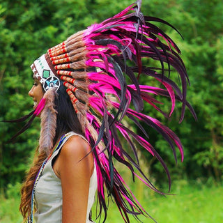 Pink Native American Headdress by Novum Crafts