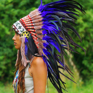Purple Native American Headdress by Novum Crafts