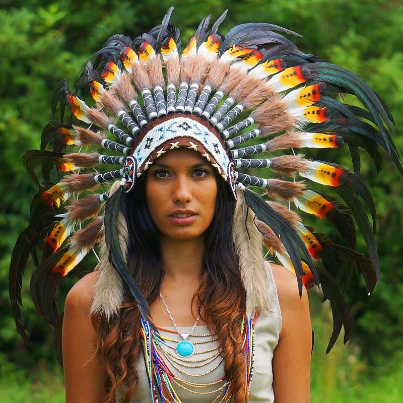 Rasta-style Native American Headdress by Novum Crafts