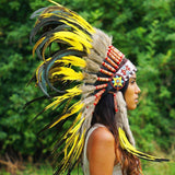 Yellow Native American Headdress