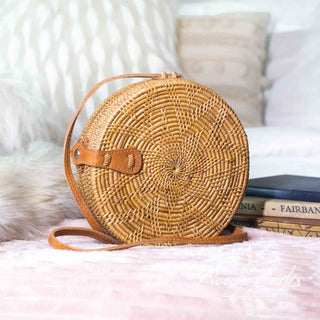 Round Rattan Bag (Medium) - Star Struck