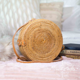 Round Rattan Bag (Medium) - Luna